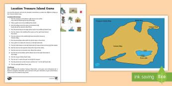 Location Treasure Island Game - Mathematics, Year 1, Measurement and Geometry, Location and transformation, ACMMG023, foundation, AC