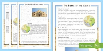 The Alamo Differentiated Fact File  - United States History, texas, revolution, independence day