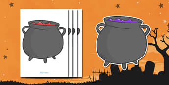 Editable Halloween Cauldrons (A4) - Editable Halloween Cauldrons, cauldrons, A4, display, poster, Halloween, pumpkin, witch, bat, scary, black cat, mummy, grave stone, cauldron, broomstick, haunted house, potion, Hallowe'en