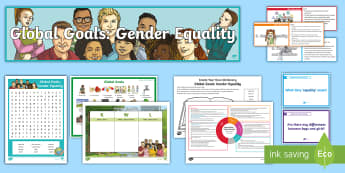 Global Goals Gender Equality CfE Second Level IDL and Resource Pack - Global citizenship, topic pack, 2nd level, global issues, resource suggestions, people in society, r