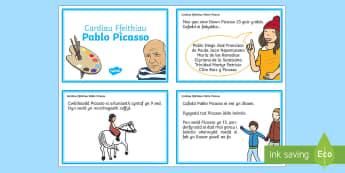 Pablo Picasso Cardiau Ffeithiol - pablo, picasso, cardiau, ffeithiau, Welsh