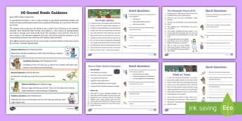 60-Second Reads: Magic, Wizards and Witches Activity Cards - 90 Words A Minute, Ninety Words, Reading, Guidance, Year 2, Y2, One Minute Reading
