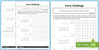 Checking Multiplication Calculations Activity Sheet - Addition, Subtraction, Multiplication and Division, multiply, formal written method, long multiplica