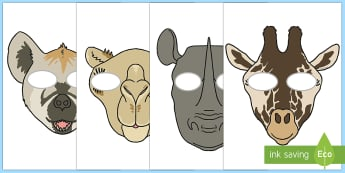 The Zoo Masks - cfe, curriculum for excellence, role play, activity, roleplay, play, activities, the zoo, zoo, masks