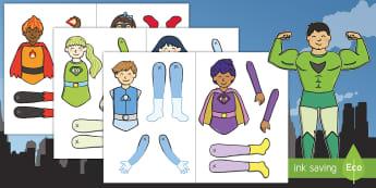 Superhero Themed Split Pin Activity - Superhero Themed Split Pin Activity - superhero, pin, split pic, display, activity, superheor, supeh