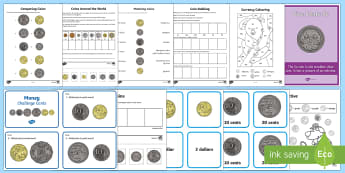 Year 1 Money  Activity Pack - Australian, currency ,Australia, money, coins, dollar, cent