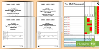 Year 6 Grammar, Punctuation and Spelling Test 2 Assessment Pack