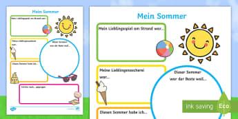 Mein Sommer - german, seasons, holidays, terms