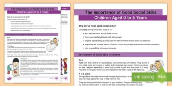 The Importance of Good Social Skill Development Adult Guidance - social, skills, Manners, Behaviour, Socialisation