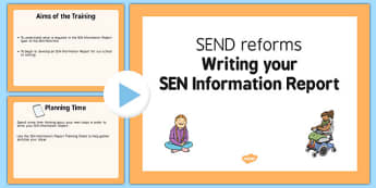 Writing Your SEN Information Report PowerPoint - writing, sen, information, report, primary