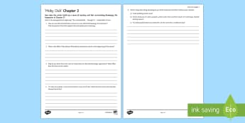 'Moby Dick': Chapter 3 Guided Reading Activity Sheet - Reading, pre 1914 Literature, Prose, Novel study, Moby Dick