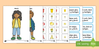 Gêm Dilyn Cyfarwyddiadau Bachgen a Merch Gêm  - dilyn cyfarwyddiadau, instructions, gwrando, deall, llythrennedd, literacy, listening,Welsh