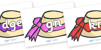 Silent Letters on Summer Hats - Silent Letters, silent letter, letter blend, consonant, consonants, digraph, trigraph, A-Z letters, literacy, alphabet, letters, alternative sounds