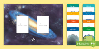Order of the Planets Card Game - Space, Planet Earth, Earth and Space, Sun, Planets, Solar System, Universe, Galaxies, Order of Plane