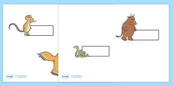 The Gruffalo Self Registration  - The Gruffalo, resources, mouse, fox, owl, snake, Gruffalo, fantasy, rhyme, story, story book, story book resources, story sequencing, story resources, self registration, register, attendance