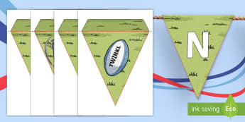 Rugby Six Nations Display Bunting - KS1 & KS2 Rugby Six Nations  (4th February 2017), rugby, europe event, sporting events, internationa