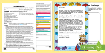 EYFS Building Brick Time Challenge Adult Input Plan and Resource Pack - EYFS, Early Years Planning, Maths, Mathematics, Time, Shape, Space and Measure, Measuring Time, cloc
