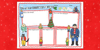 Book Review Writing Frame to Support Teaching on The Jolly Christmas Postman - the jolly christmas postman, writing frame, the jolly postman writing frames, book review