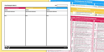 EYFS Prime Planning for Under Threes Template - prime, planning