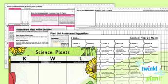 PlanIt - Science Year 2 - Plants Unit Assessment Pack - science, plants, assessment, planit, science, ks1, 2014, curriculum, planning, assessment
