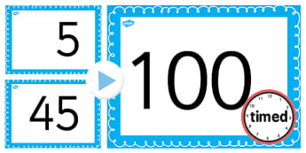 Counting On and Back in 5s up to 100 PowerPoint - counting, 5, Counting on, 5s, Skip Counting, Counting back