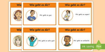 How Are You Flashcards German - German, Languages, Basic Phrases, How are you, Greetings, MFL