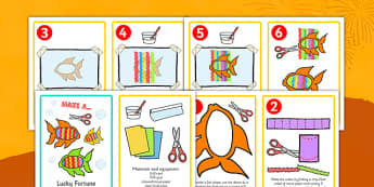 Chinese New Year Make a Lucky Fish Activity Instructions