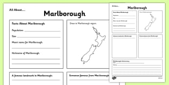 All About Marlborough Writing Frame - Marlborough, Anniversary, city, research