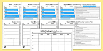 Guided Reading Planning Resource Pack