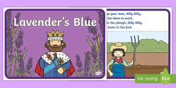 Lavenders Blue Story - Lavenders Blue Story - World Nursery Rhyme Week, Lavenders Blue, songs and rhymes, nursery rhyme, ca