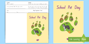 Senior Pet Diary for Pet Day Booklet - New Zealand, Pet Day, Farm Safety, Pet Show, judging, caring, knowledge, condition, animal, diary