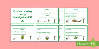 Outdoor Learning Maths Investigations KS2 Activity Pack - NI KS2 Maths Resource, investigations, explore, problem solving, teamwork, angles, measure, outdoor