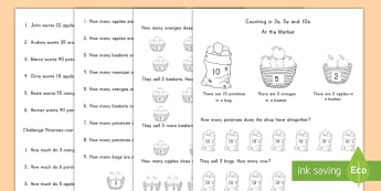 Counting in 2s, 5s and 10s Multiplication Activity Sheets - multiplication, activity sheets, 2s, 5s, 10s, Worksheets