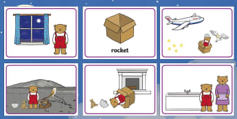 Story Sequencing to Support Teaching on Whatever Next! - Whatever Next!, Jill Murphy,  resources, space, baby bear, Large family, rocket, moon, owl, story, story book, story book resources, story sequencing, story resources, sequencing