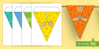 Welcome to Year Four Fingerspelling Display Bunting - year 4, year four, welcome to year four bunting, welcome to year 4 bunting,Welcome To Class, Classro