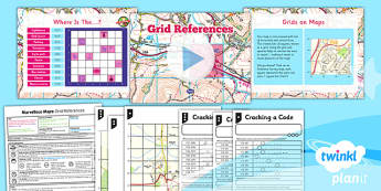 PlanIt - Geography Year 5 - Marvellous Maps Lesson 4: Grid References Lesson Pack