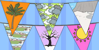 Winter Bunting Temperate - seasons, weather, flags, display