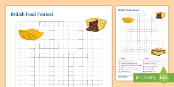 British Festival Food Differentiated Puzzle - food, puzzle, quiz, Starter, Test, products