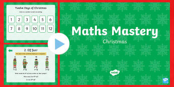 Year 1 Christmas Maths Mastery PowerPoint - Christmas Maths, Twelve Days of Christmas, mastery, deeper learning, deeper understanding, reason, r