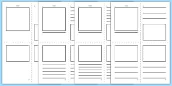Mini Book Template  - mini book, booklet, pamphlet,  template, templates, blank, books, mini-book, creative, how to make, create, your own