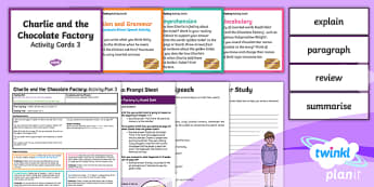 Y3 Charlie and the Chocolate Factory: Activity Plan 3 PlanIt Guided Reading Pack to Support Teaching on Charlie and the Chocolate Factory - PlanIt Y3 Charlie and the Chocolate Factory, guided reading, author's name, book title, reading, Y