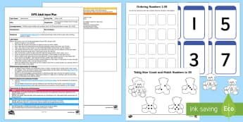 EYFS Colour to 20 Adult Input Plan and Resource Pack - EYFS, Number, ELG, mathematics, early years, EYFS Planning, Adult led, teaching, teacher led, lesson