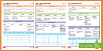 New Zealand Level 1 Writing Weekly Plan - Literacy, Writing, Weekly Planning, English, Level 1, Level 1i, Level 1ii, Level 1iii