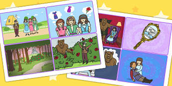 Beauty and the Beast Story Sequencing Cards - traditional tales