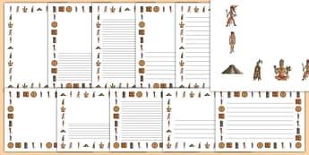 Maya Civilisation Page Borders - maya civilisation, mayan, ancient, page borders, writing frame