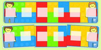 Building Brick Theme Visual Timetable Display - building brick, themed, visual timetable, visual, timetable, display