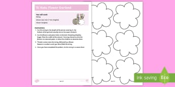\'Ei Katu Flower Garland Activity - Cook Island, 'ei, Lei, Basic, flower