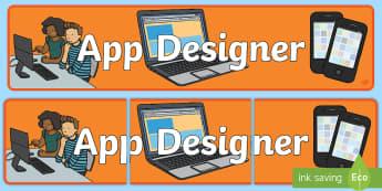 App Designers Role Play Banner-app design, role play, banner, role play banner, app design role play, designer role play, display banner