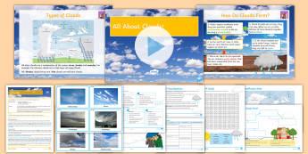 All About Clouds Lesson Pack - Clouds, Weather, Evaporation, Condensation, Cirrus, Cirrocumulus, Cirrostratus, Altocumulus, Altostr