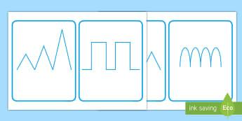 Pattern Flashcards - Back to School, Junior Infants, pre-writing, patterns, fine motor, motor skills,Irish